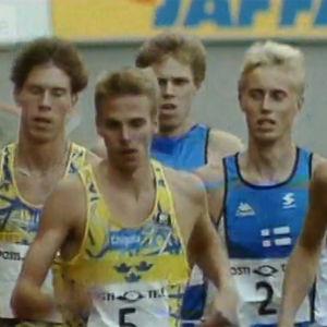 Miesten 1500 metrin juoksu Suomi-Ruotsi-maaottelussa (1992).