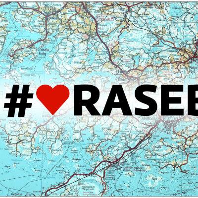 Ett hjärta vid texten Raseborg.
