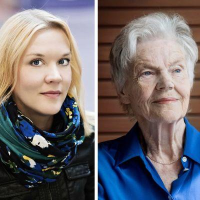 Collage på Johanna Holmström, Märta Tikkanen och Susanna Ginman.