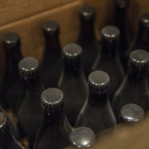 Iso-Kallan panimon olutpulloja.