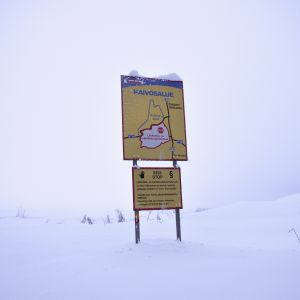 Terrafamen kaivosalueen rajalla.