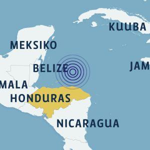 Karibianmeren alueen kartta.