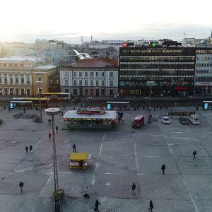 Turun kauppatori tammikuussa 2018.
