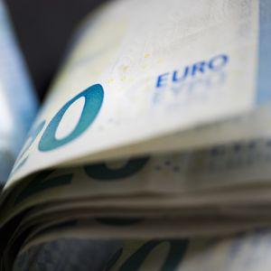Kahdenkymmenen euron seteleitä.