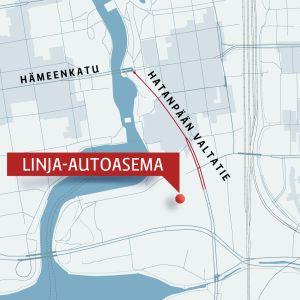 Ratikkalinjaus Hatanpään valtatiellä