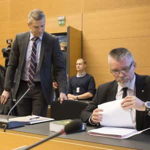 Tutkinnajohtaja Janne Järvinen ja tutkinnajohtaja Markku Ranta-aho.