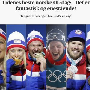 Norjalle kuusi historiallista olympiamitalia 15. 2. 2018