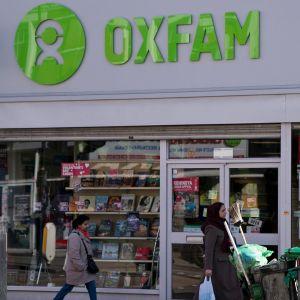 Oxfamin toimipiste Lontoossa 17. helmikuuta.