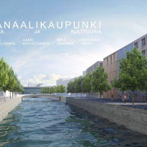 Kanaalikaupunki -suunnitelmassa Jyväsjärven satamarantaan tulisi Venetsia-tyyliä: kolme saarta ja niihin kerrostaloja.