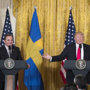 Stefan Löfven tapasi Donald Trumpin Valkoisessa talossa.