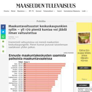 Maaseudun Tulevaisuus -lehden artikkeli netissä