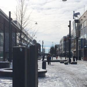 Kouvola käytti viime vuonna investointirahaa muun muassa kävelykatu Manskin saneeraamiseen.