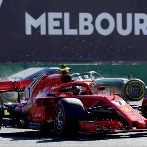 Valtteri Bottas ja Kimi Räikkönen melkein kolaroivat Australian gp:n harjoituksissa.