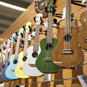 Kitaroita soitinkaupassa