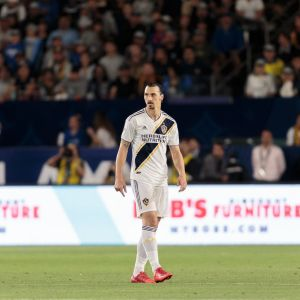 Zlatan Ibrahimovic LA Galaxyn paidassa.