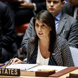 USA:n YK-suurlähettiläs Nikki Haley