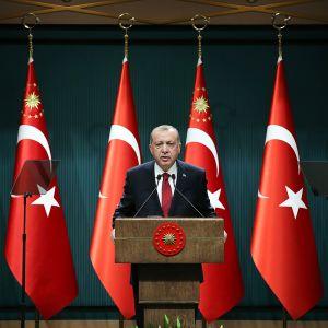 Presidentti Recep Tayyip Erdoğan.