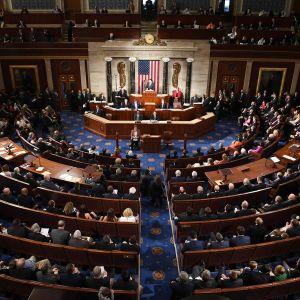Senaatin istuntosali Washingtonissa.