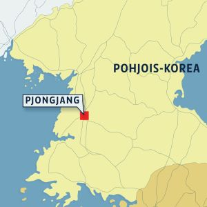 Pohjois-Korean kartta.