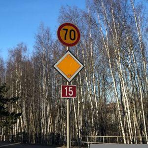 70 nopeusrajoitus