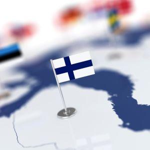 suomen lippu kartalla