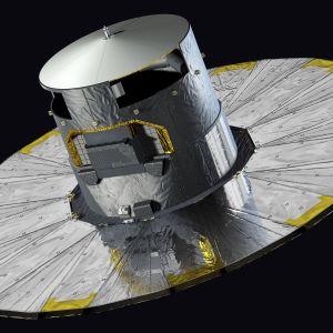 Gaia-teleskooppi taiteilijan näkemyksenä.