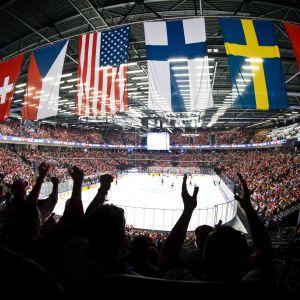 Jääkiekon MM-kisat 2018 yleiskuva kuvituskuva jääkiekko