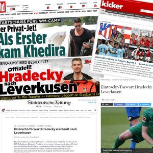 Kuvakaappauksia saksalaisista lehdistä.