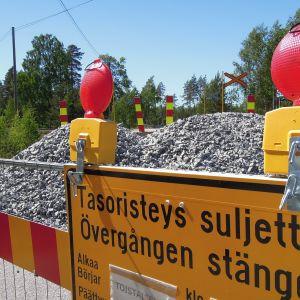 Skogbyn onnettomuustasoristeys Raaseporissa 31.5.2018.