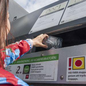 Kierrätyspiste.