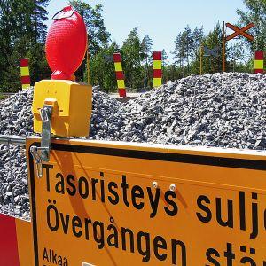 Skogbyn onnettomuustasoristeys Raaseporissa 31. toukokuuta 2018.
