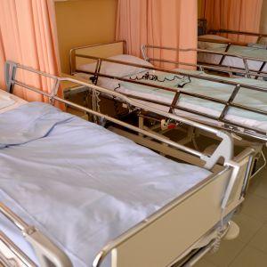 Sairaalan vuodeosasto.