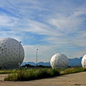 Saksan ulkomaantiedustelun BND:n signaalitiedusteluasema Baijerissa.