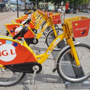 Jos kaupunkipyörän kanssa tulee ongelmia, voi satulan kääntää merkiksi osoittamaan väärään suuntaan.
