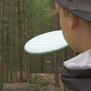 Frisbeegolf.