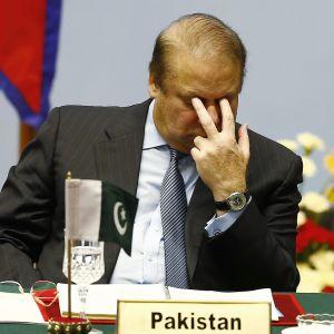 Pakistanin pääministeri Nawaz Sharif joutui väistymään tehtävästään vuonna 2017 korruptiotutkinnan vuoksi.