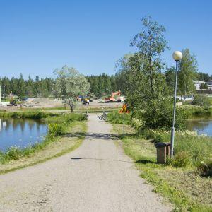 Työmaa Kajaaninhallilla