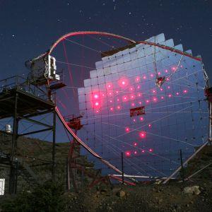 MAGIC-teleskooppi Palman saarella Kanarialla.