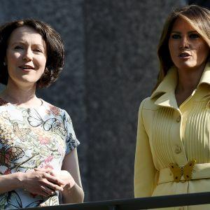 Jenni Haukio ja Melanie Trump