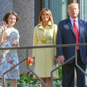 Jenni Haukio,  Melania Trump, Donald Trump  ja Sauli Niinistö