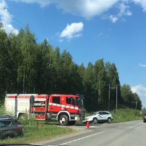 Liikenneonnettomuus ysitie Muurame