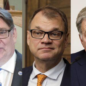 Timo Soini, Juha Sipilä ja Sauli Niinistö