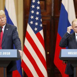 Yhdysvaltain Donald Trump ja Venäjän Vladimir Putin tapasivat maanantaina Helsingissä.