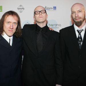 Apulanta-yhtyeen Simo Sipe Santapukki, Toni Wirtanen ja Sami Lehtinen.