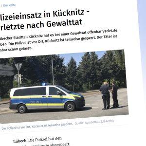 kuvakaappaus Lübecker Nachrichter -sanomalehdestä