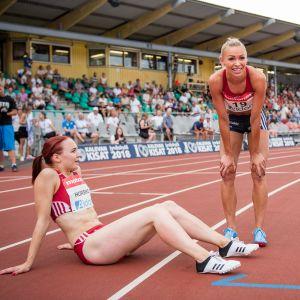 Reetta Hurske ja Annimari Korte Kalevan kisoissa 2018