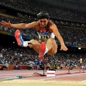 Tatjana Lebedeva Pekingin olympialaisissa.
