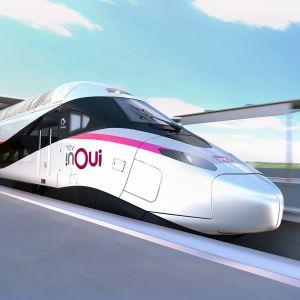 Alstomin julkaisema kuva tulevasta nopeasta junayksiköstä.