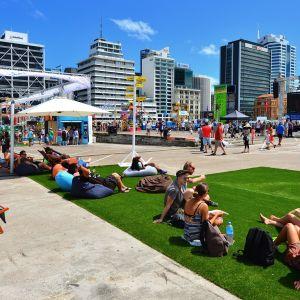 Vapaapäivän viettoa Aucklandissa, Uudessa-Seelannissa.