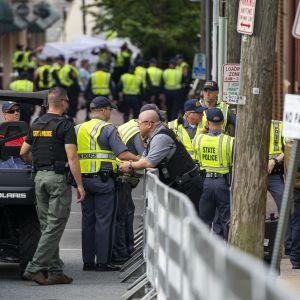 Poliisit valmistautuvat Charlottesvillen tapahtumien vuosipäivään